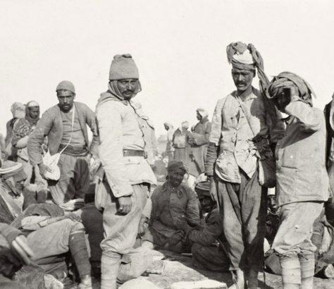 Οθωμανοί στρατιώτες αιχμάλωτοι των Βρετανών
