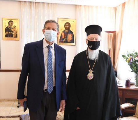 Ο Παναγιώτατος με τον κ. Μounir Bouchenaki