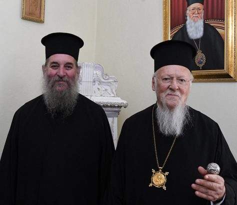 Ο Οικ. Πατριάρχης με τον Σεβ. Ίμβρου και Τενέδου κ. Κύριλλο