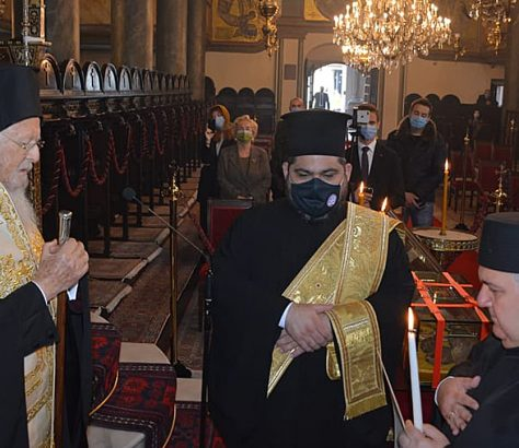Χειροθεσία του Ά Δομέστικου Γ. Κιοσέογλου από τον Οικουμενικό Πατριάρχη