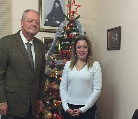 Ο κ. Σανταλτζίδης με την συνεργάτιδα της